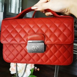 Chanel Red Top handle bag